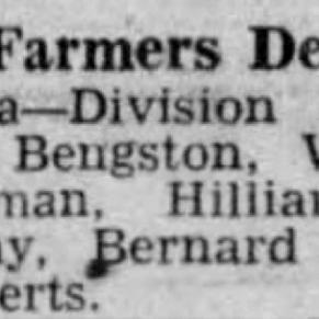 Hilliard Comstock and Wayne Foster FFA 1937