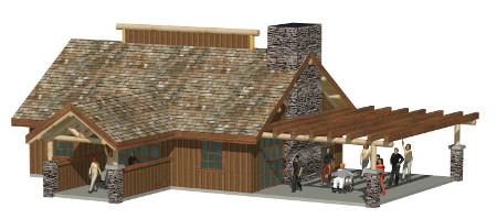 Custom timber home plan