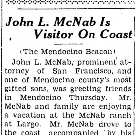 John McNab Visits
