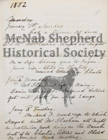 Page from the McNab Ranch Diary