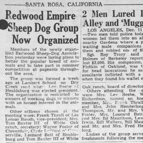 PD Announcement of Redwood Empire Sheep Dog Association