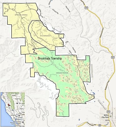 Brooktrails, CA Map