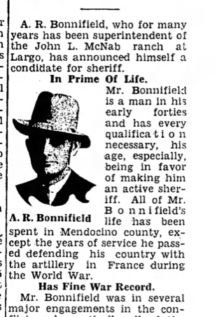 Long article about Alvin Bonnifield