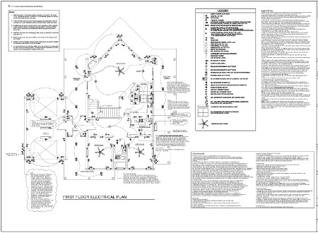 Custom log home plan
