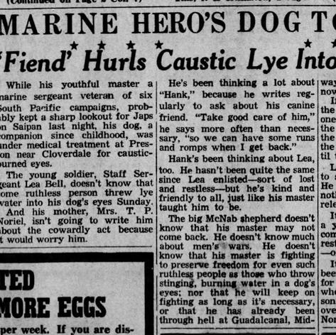 PD 1944 War Marine's McNab Attacked