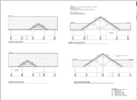 Timber shade structure floor plans