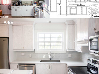 White Frosted Kitchen