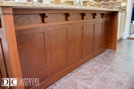 Hand Milled Custom Kitchen Island