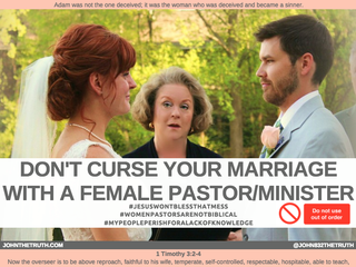 DON'T CURSE YOUR MARRIAGE WITH A FEMALE PASTOR/MINISTER