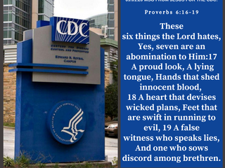 09.01.20 MSG FROM JESUS FOR THE C.D.C:  Proverbs 6:16-19