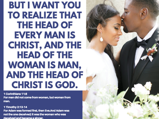 1 CORINTHIANS 11:3 BUT I WANT YOU TO REALIZE THAT THE HEAD OF EVERY MAN IS CHRIST, AND THE HEAD OF T
