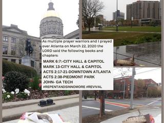 ATL PRAYER WALK MARCH 22, 2020
