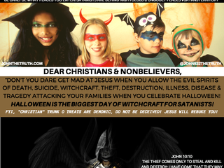 """DEAR CHRISTIANS & NONBELIEVERS,""""DON'T YOU DARE GET MAD AT JESUS WHEN YOU ALLOW THE EVIL SPIR"""