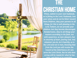 Colossians 3:18-25 The Christian Home