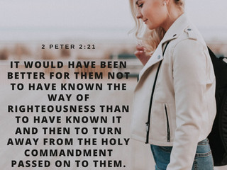 2 Peter 2:21