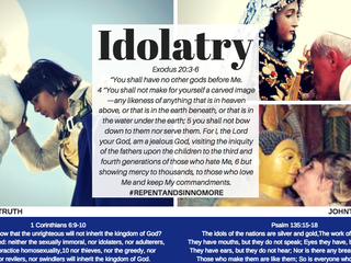 """JESUS HATES IDOLATRY! #repentandsinnomore """"It is written: """"'As surely as I live,'"""