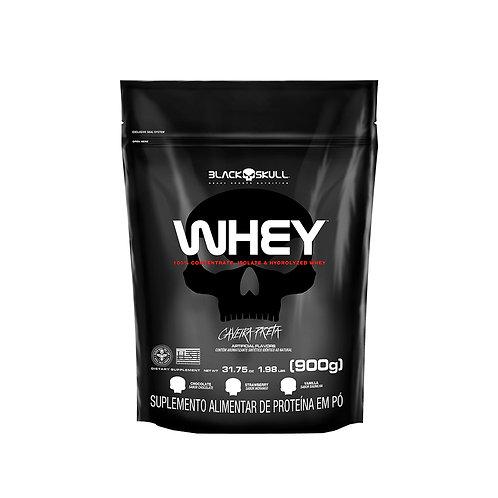 Whey Protein Concentrada, Isolada, Hidrolisada Refil 900g - Black Skull
