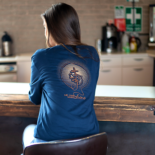 'Let Your Light Shine' Sueded Long Sleeved T-shirt