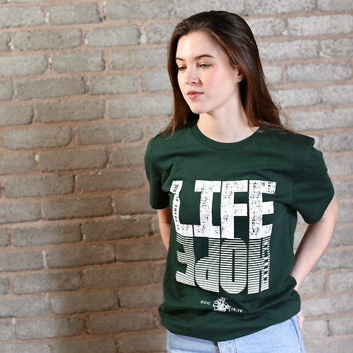 forest green womens christian hope t-shirt