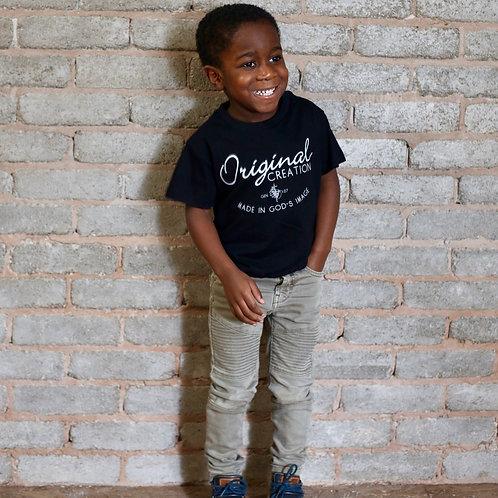 boy wearing black christian t-shirt uk