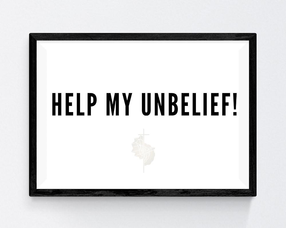 help my unbelief bible verse