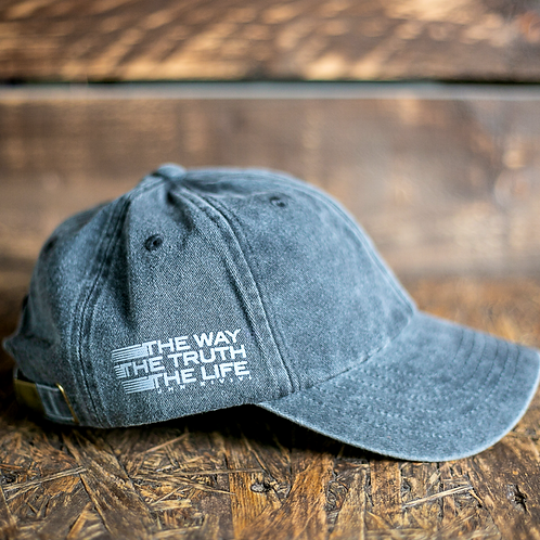christian vintage black baseball cap the way the truth the life