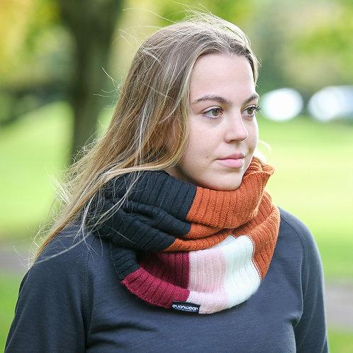 'Evanwear' Stripe Knitted Snood