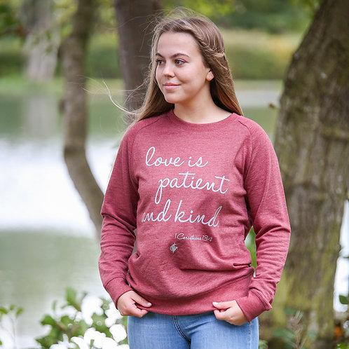 'Love Is' Ladies Sweatshirt