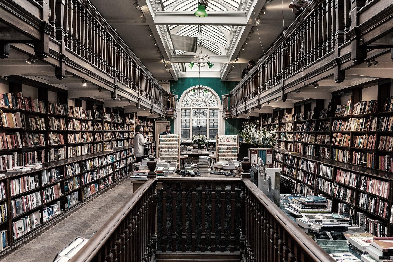Interior da livraria