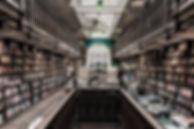 Innenraum des Buchladens