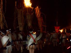 火の粉舞う〜鞍馬の火祭
