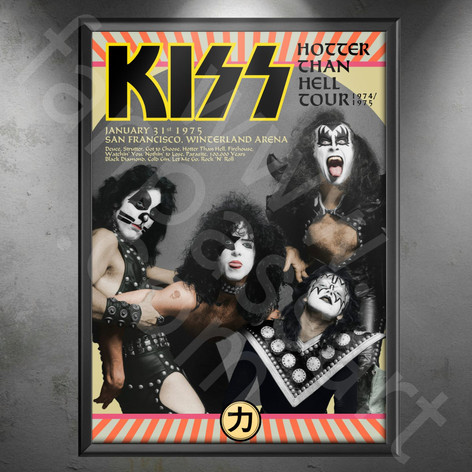 KISS Hotter Than Hell Tour 1974-1975