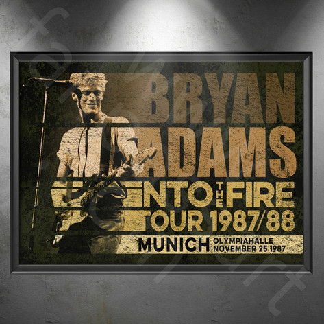 BRYAN ADAMS Into The Fire Tour 1987-1988