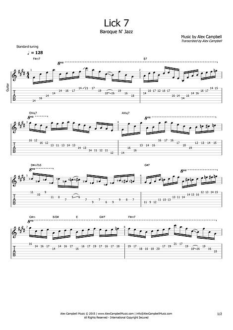 Lick 7 | Baroque N' Jazz