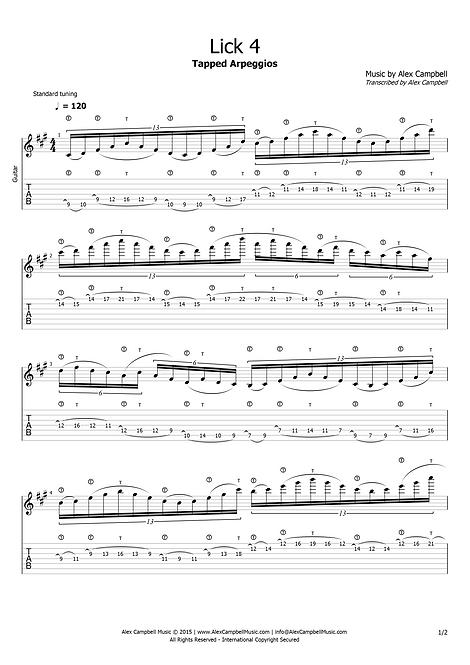 Lick 4   Tapped Arpeggios Part I