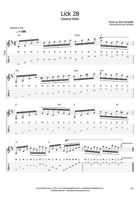 Lick 28 | Classical Shifts