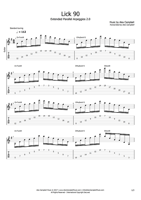 Lick 90 | Extended Parallel Arpeggios 2.0