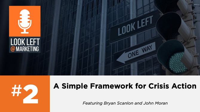 Look Left @ Marketing Podcast, Episode 2: A Simple Framework for Crisis Action