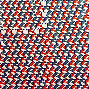 """Mathematical Continuum_001"" Hand Screen Printing on Textile.2015 GERMANY ©️Hiroko NAKAJIMA"