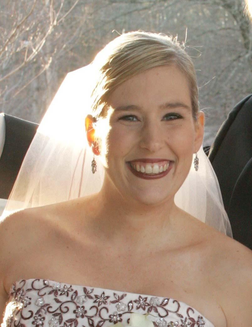 Scarlet Akins' wedding photo.