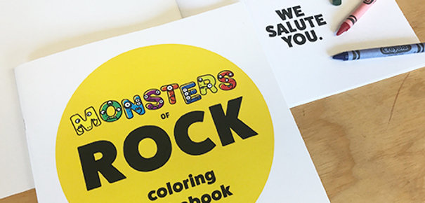Monsters of Rock Coloring Alphabook volume 1