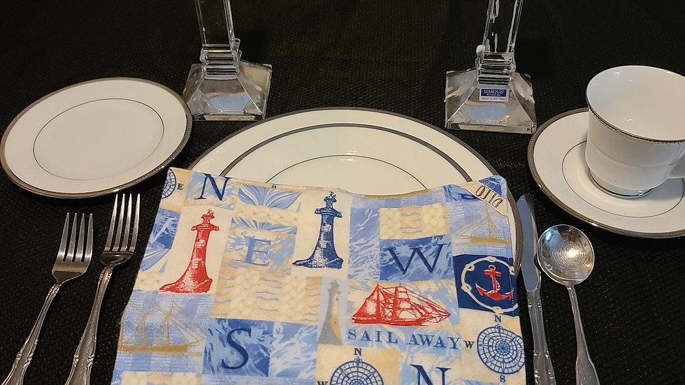 Lighthouse Themed Dinner Napkin - 6 pack