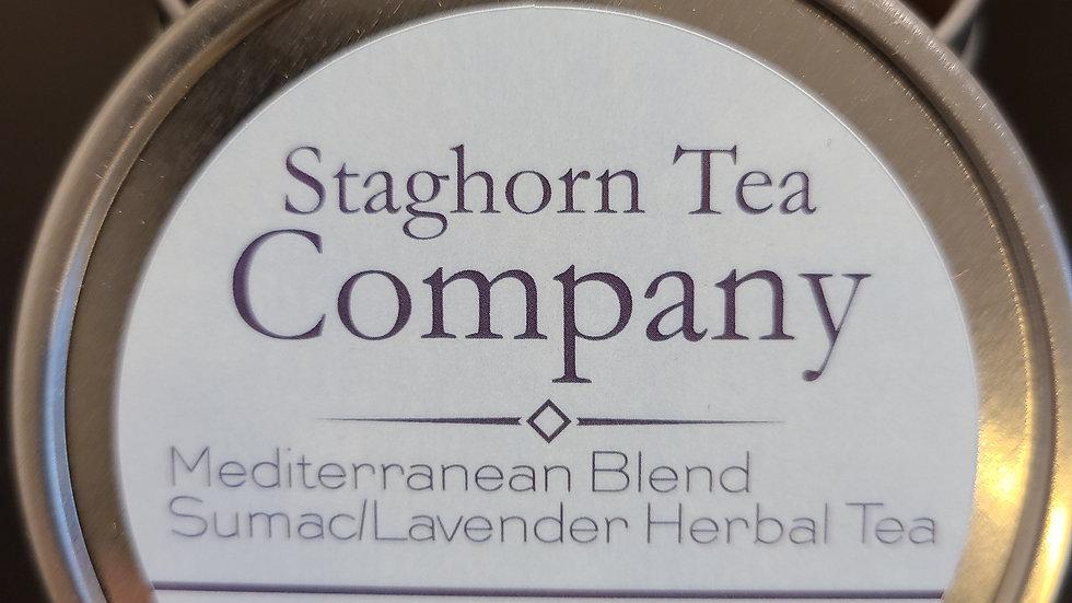 8oz. Loose Tea Tin - Mediterranean Blend Sumac/Orange/Lavender