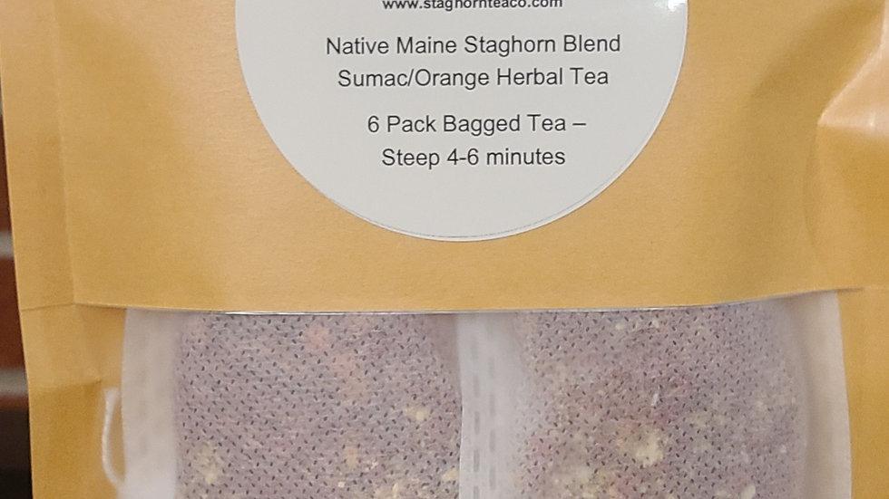 6 Pack - Native Maine Staghorn Blend- Sumac/Orange