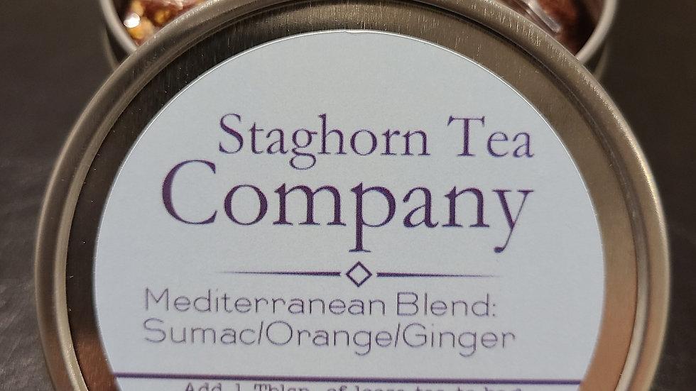 8 oz Loose Tea Tin - Mediterranean Blend Sumac/Orange/Ginger