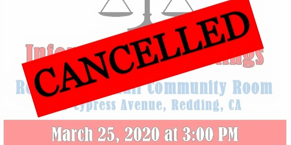 CANCELLED -- Informational Meeting