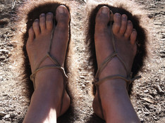 Buffalo rawhide sandals