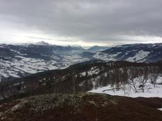 Snowy mountains of the Vågå area