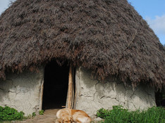 Small cob roundhouse