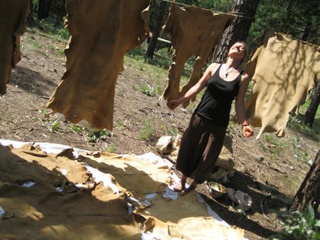 Basking in the glory of tanning so many wonderful buckskins